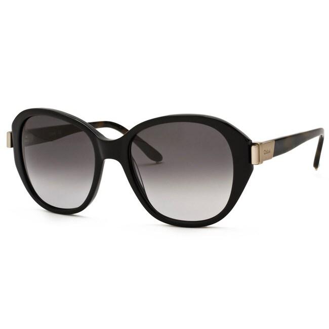 Chloe Women's Black Fashion Sunglasses