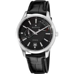 Zenith Men's 'CaptainElite' Black Dial Power Reserve Automatic Watch