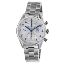 Tag Heuer Men's 'Carrera' Silver Dial Automatic Chronograph Watch