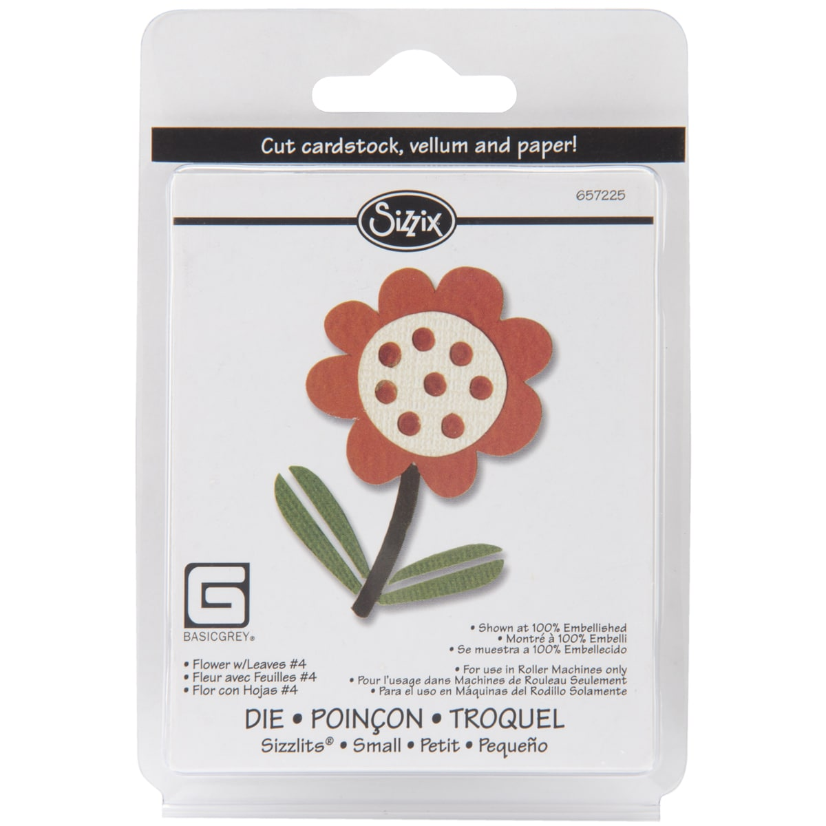 Sizzix Sizzlits Figgy Pudding Flower With Leaves Singles Die
