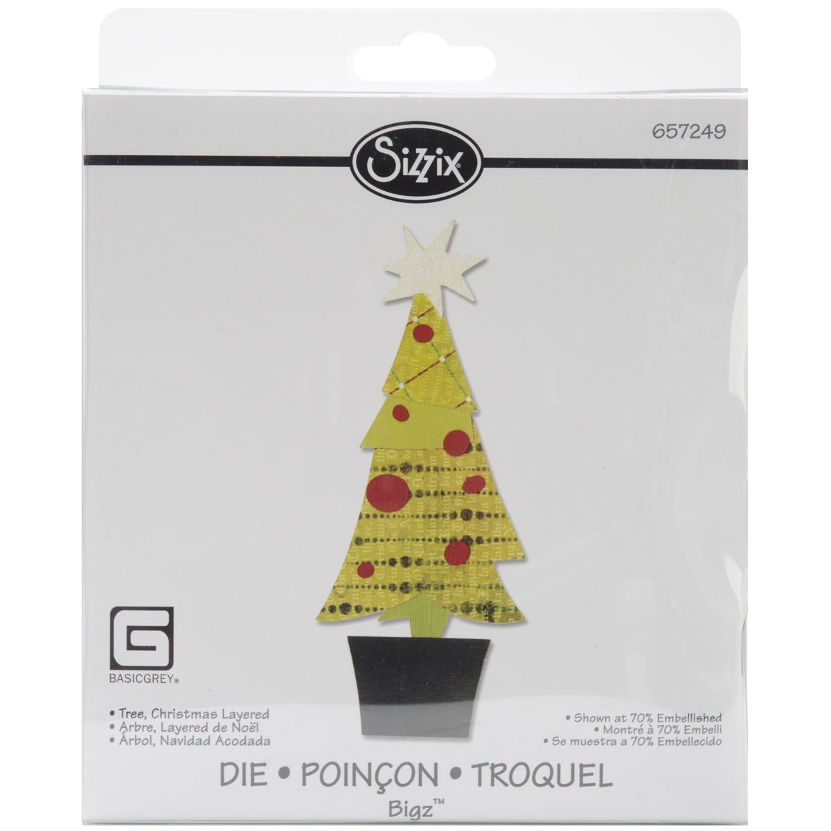 Sizzix Bigz Figgy Pudding Layered Christmas Tree BIGkick/Big Shot Die
