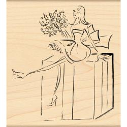 Penny Black Fashionably Wrapped Rubber Stamp