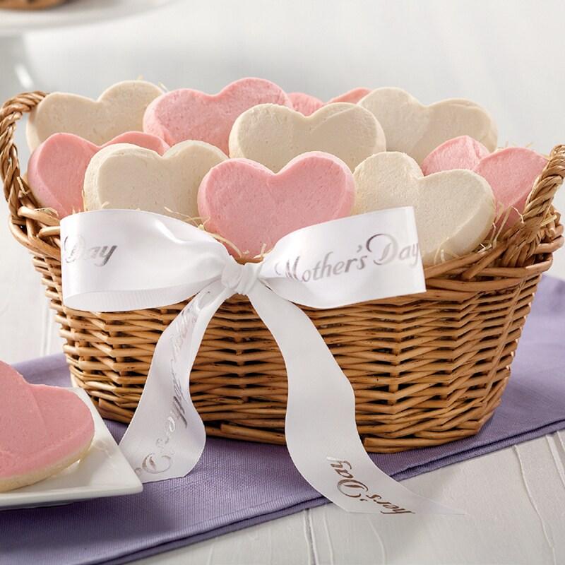 Mrs. Fields 'We Love You Mom' Heart-shaped Cookie Basket