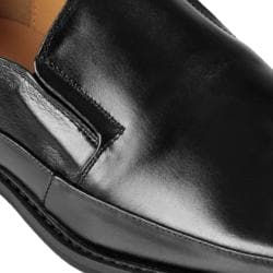 Oxford & Finch Men's Topstitched Square Toe Leather Loafers