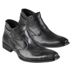 Boston Traveler Men's Topstitched Faux Leather Shoes