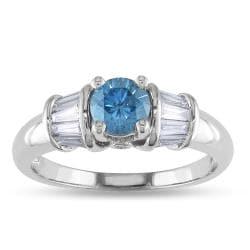Miadora 14k White Gold 1ct TDW Diamond Ring (G-H, I1)