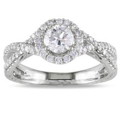 Miadora 18k White Gold 4/5ct TDW Diamond  Ring (H-I, SI2)