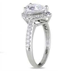 Miadora 14k White Gold 1 3/4ct TDW Certified Diamond Ring (F, I1)