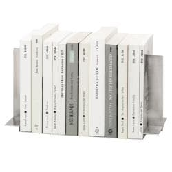 Urban Silver Heavy-duty Recycled Stainless Steel Book End Set