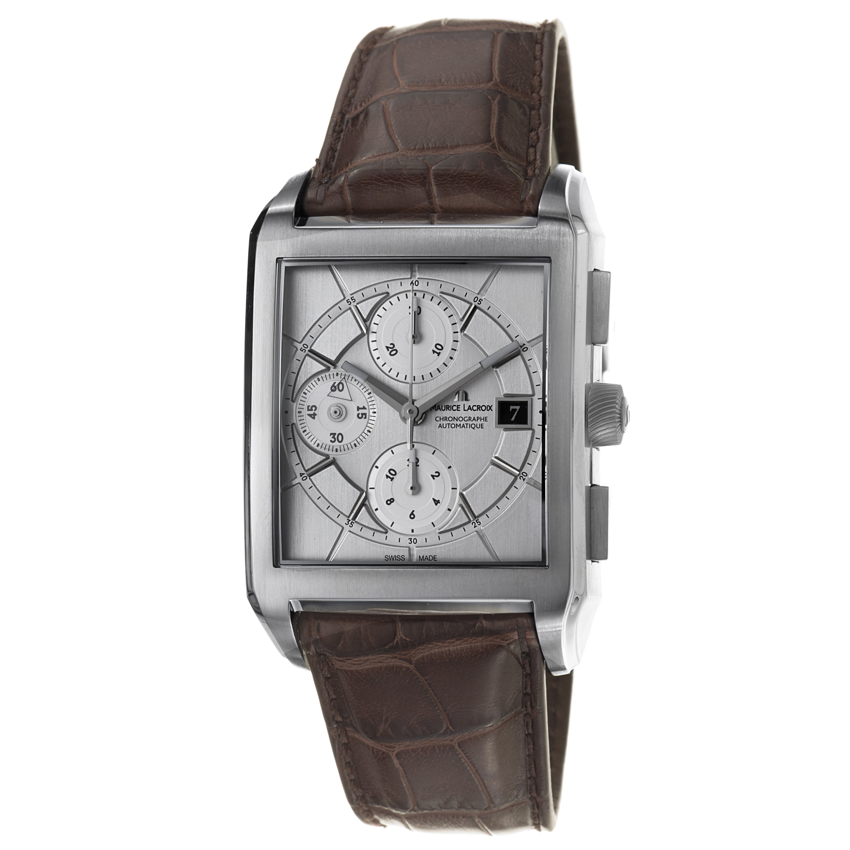 Maurice Lacroix Men's 'Pontos' Silver Dial Chronograph Automatic Watch