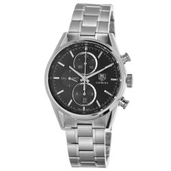 Tag Heuer Men's 'Carrera' Black Dial Automatic Chronograph Watch