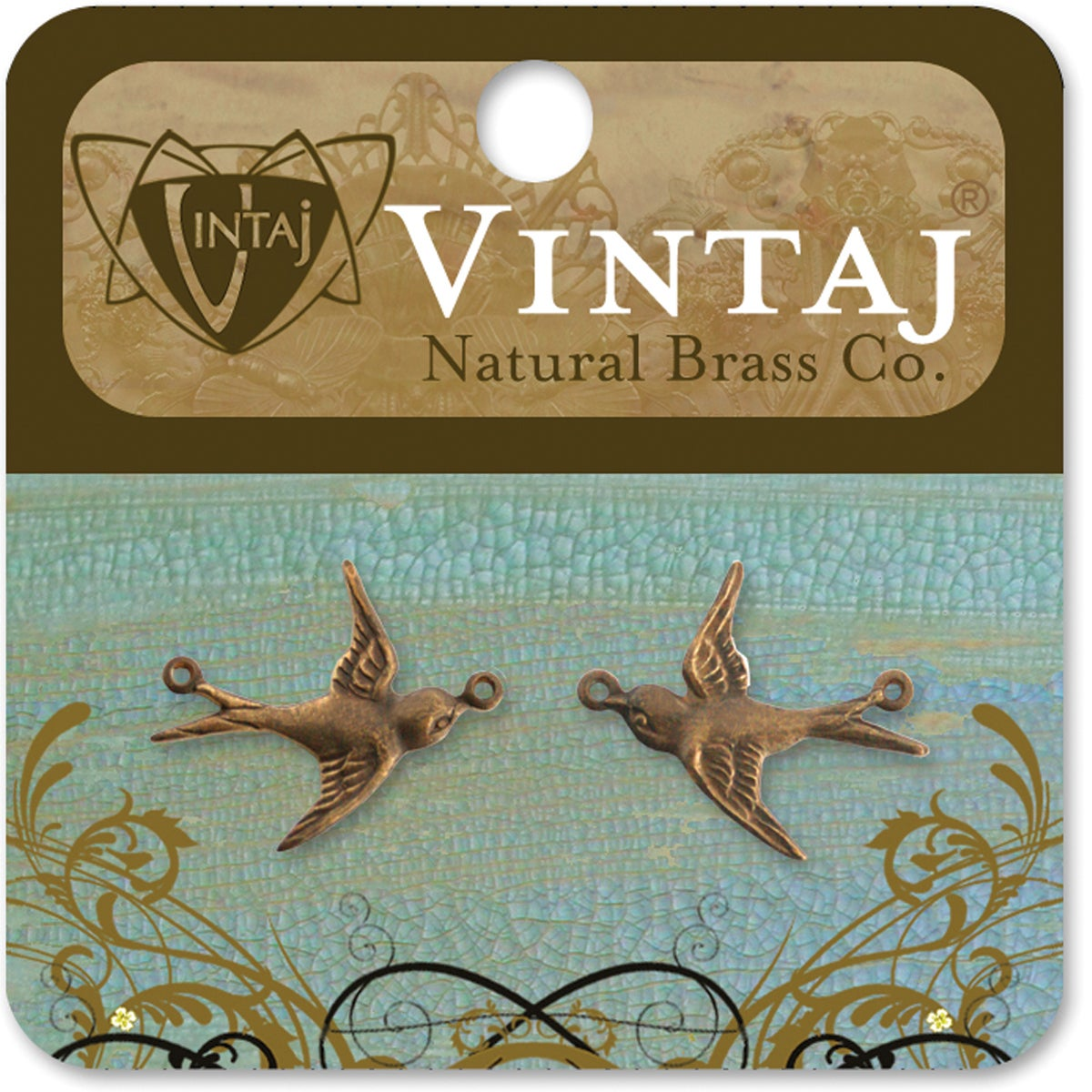 Vintaj Metal Accent 'Flying Birds' (2)
