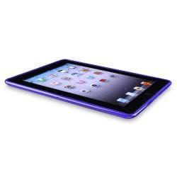 Clear Purple Leopard TPU Rubber Skin Case for Apple iPad 3
