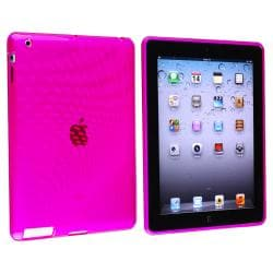 Clear Pink Leopard TPU Rubber Skin Case for Apple iPad 3