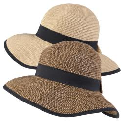 Hailey Jeans Co. Women's Ribbon Accent Tweed Sunhat
