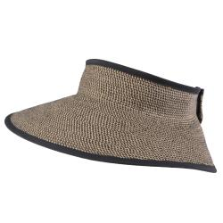 Hailey Jeans Co. Women's Bow Accent Tweed Roll-up Visor Hat