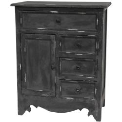 Distressed Matte Black Cabinet (China)