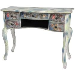 Distressed Floral Writing Desk (China)