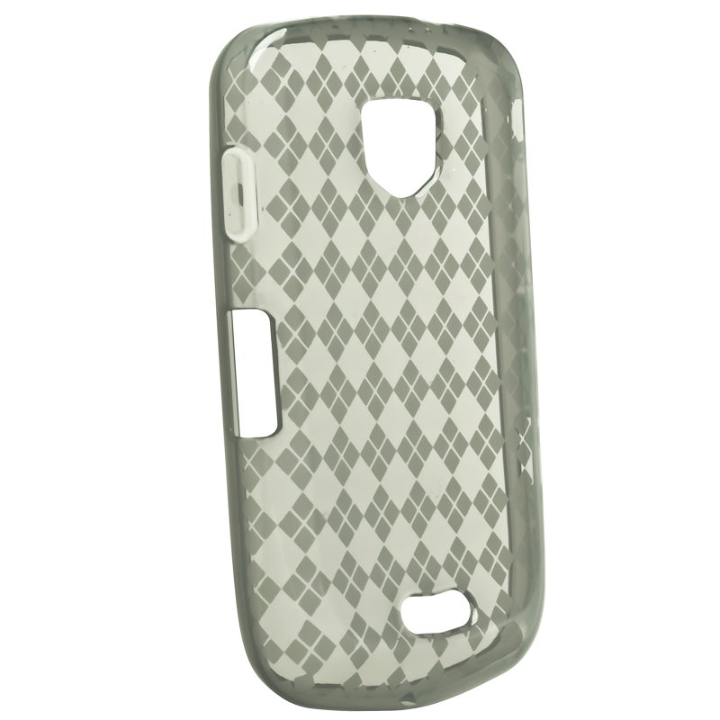Smoke Argyle TPU Rubber Skin Case for Samsung Droid Charge