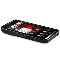 Black S-Line TPU Rubber Skin Case for Motorola Droid Bionic XT875
