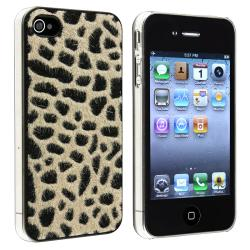 Light Brown Furry Leopard Snap-on Case for Apple iPhone 4/ 4S