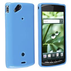 Blue Jelly TPU Rubber Skin Case for Sony Ericsson Xperia Arc X12