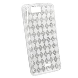 BasAcc Clear White Argyle TPU Case for Motorola Droid Xtreme MB810