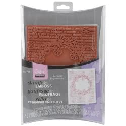 Sizzix Textured Impressions Embossing Folder & Stamp Set-Hero Arts Floral Wreath