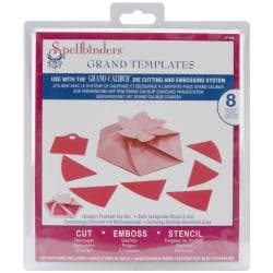 Spellbinders Grand Calibur Dies-Hexagon Pinwheel Top Box