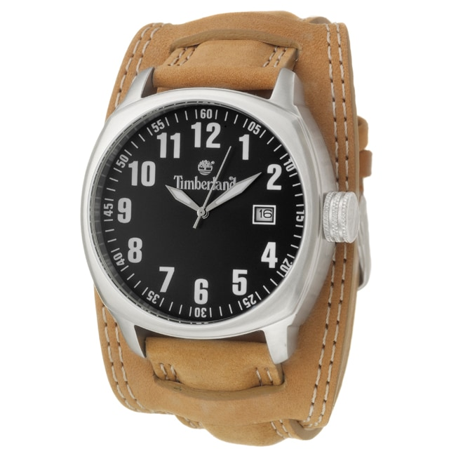 Timberland Men's 'Terrano' Stainless Steel Leather Quartz Watch
