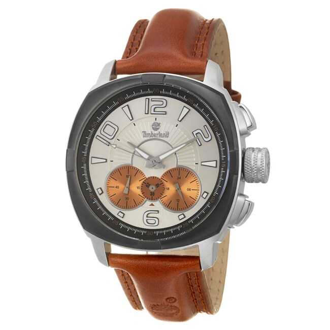 Timberland Men's 'Glenwood' Stainless Steel and Leather Quartz Watch