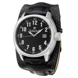 Timberland Men's 'Terrano' Stainless Steel and Leather Quartz Watch
