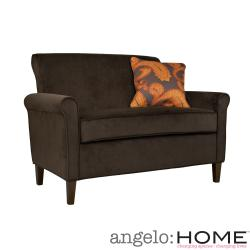 angelo:HOME Harlow Molten Brown Velvet Loveseat
