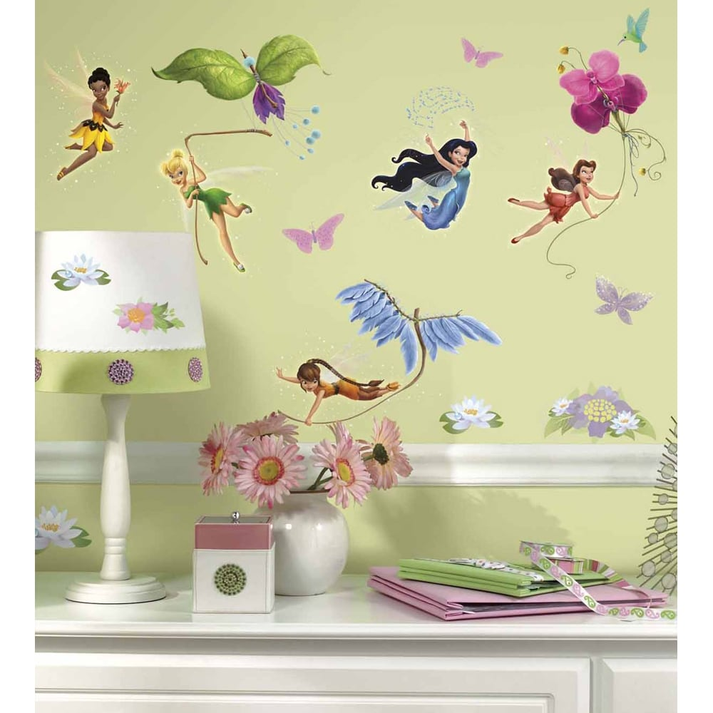 Disney Fairies Peel and Stick Glitter Wall Decals