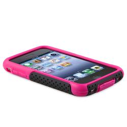 BasAcc Purple Skin/ Black Mesh Hybrid Case for Apple iPhone 3G/ 3GS