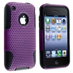 BasAcc Black Skin/ Purple Mesh Hybrid Case for Apple iPhone 3G/ 3GS