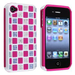 BasAcc Hot Pink TPU/ White Hybrid Diamond Case for Apple iPhone 4/ 4S