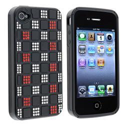 BasAcc Black TPU/ Black Hybrid Diamond Case for Apple iPhone 4/ 4S