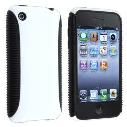 BasAcc Black TPU/ White Plastic Hybrid Case for Apple iPhone 3G/ 3GS