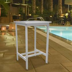 Bradley Outdoor Wood Bar Table