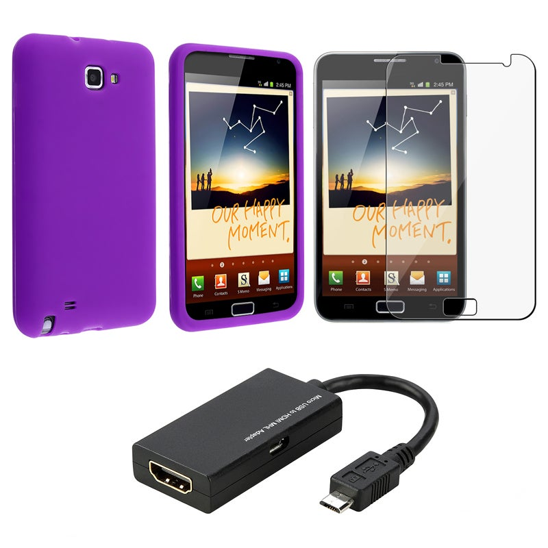 Case/ LCD Protector/ USB to HDMI Adapter for Samsung Galaxy Note