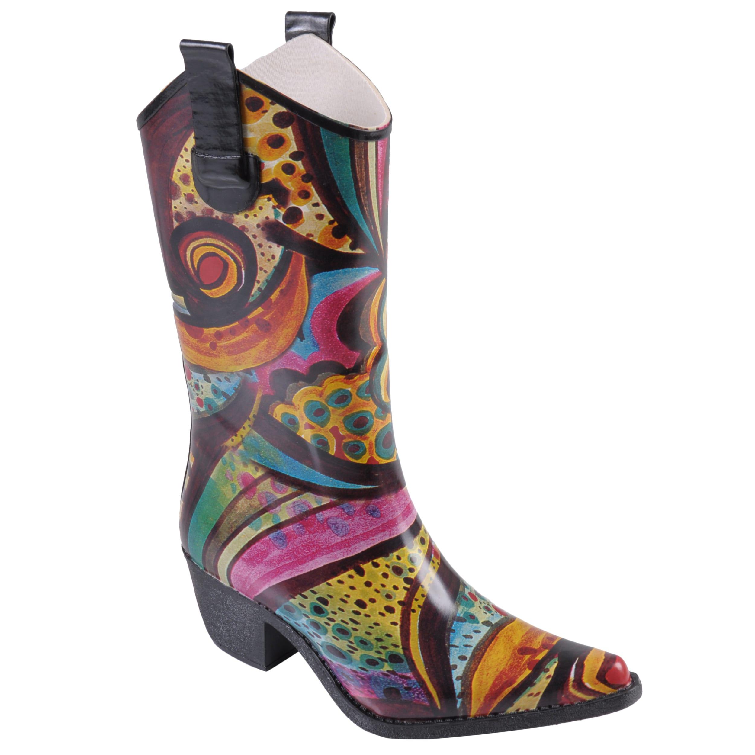 Journee Collection Women's Cowboy Style Fashion Rainboots