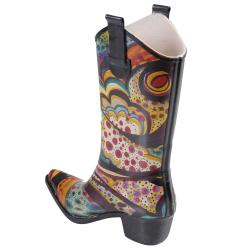 Journee Collection Women's Cowboy Style Fashion Rainboots