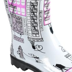 Hailey Jeans Co Women's 'Graphics' Print Rainboots