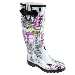 Hailey Jeans Co Women's 'Graphics' Print Rainboots