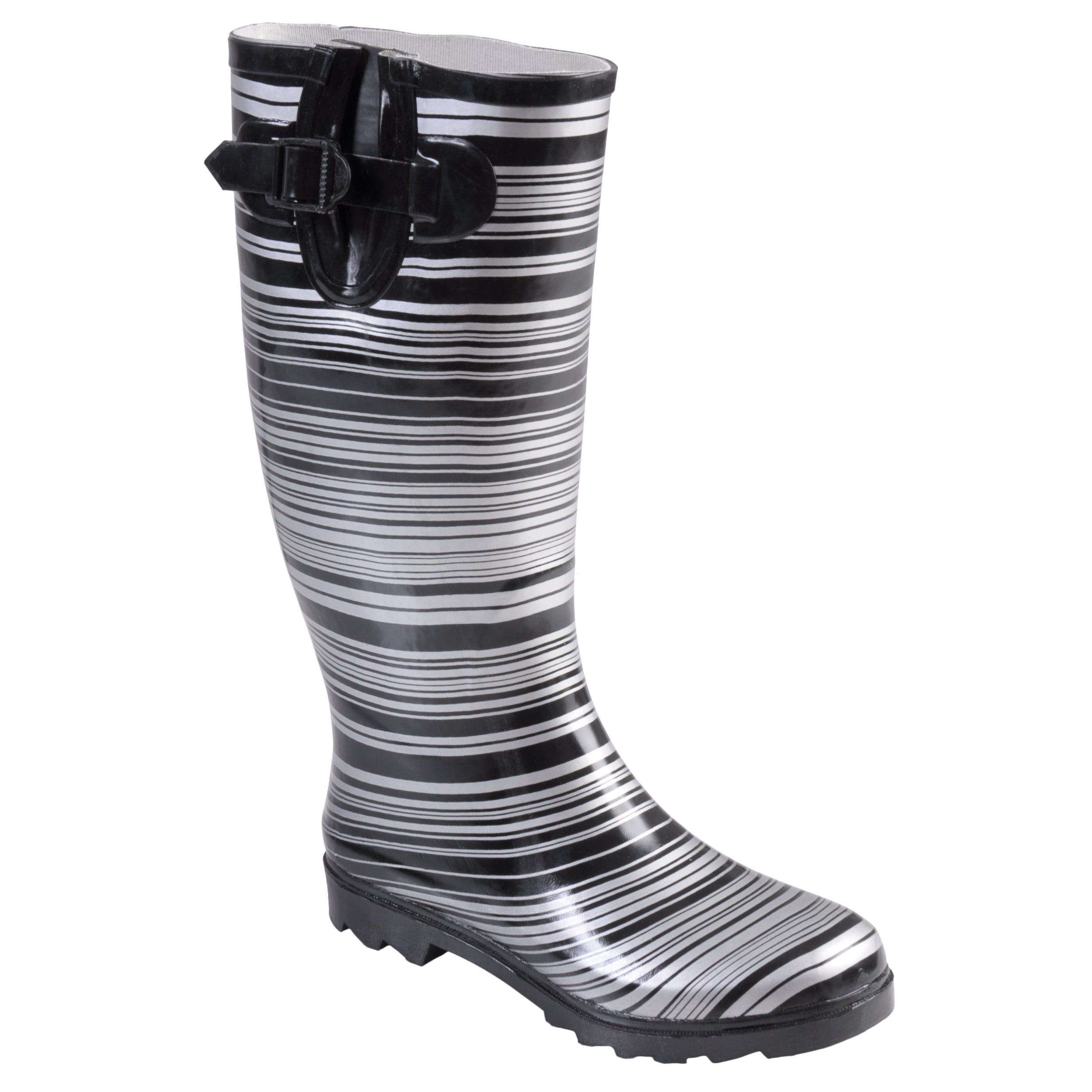 Hailey Jeans Co Women's 'Bette' Striped Rubber Rainboots