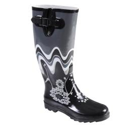 Hailey Jeans Co Women's 'Avon' Flower Print Rainboots
