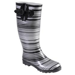 Hailey Jeans Co Women's 'Bette' Striped Rubber Rainboots