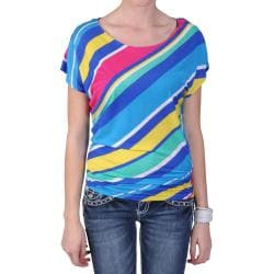 Journee Collection Junior's Short-sleeve Scoop Neck Knit Top