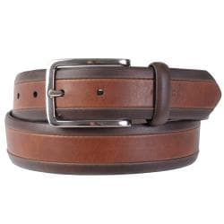 Tommy Hilfiger Men's Two-tone Genuine Leather Belt